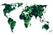Leinwandbild Motiv green world map - green renewable sustainable economy