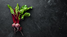 Fresh Beetroot With Leaves On ...
