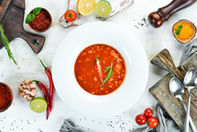 Tomato Soup With Corn And Vege...