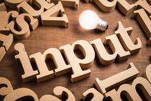 Input Wood Word And Idea
