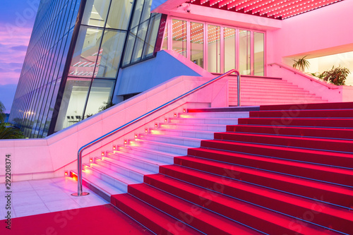 Red Carpet Festival Hall Canvas Print