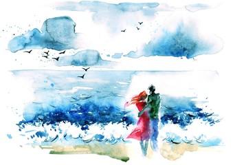Panel Szklany Romantyczny lovers