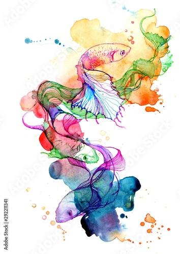 Poster Schilderingen fish