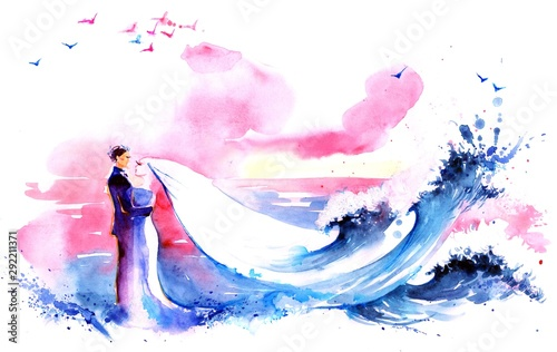 Canvas Prints Paintings newlyweds