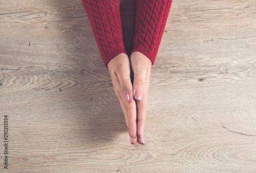 Vászonkép Prayerful woman hands