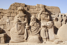 The Three Kings In Sand