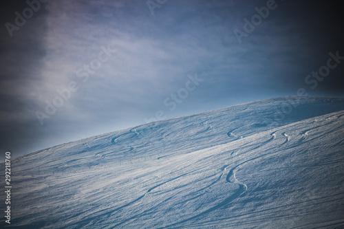 Photo paysage hivernal des Deux-Alpes dans les Alpes françaises