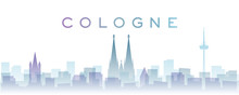 Cologne Transparent Layers Gradient Landmarks Skyline