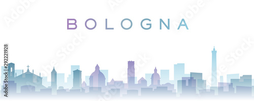 Bologna Transparent Layers Gradient Landmarks Skyline Fototapet
