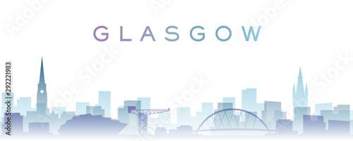 Glasgow Transparent Layers Gradient Landmarks Skyline