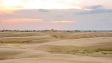 Sunset In Thar Desert In Rajas...