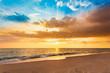 canvas print picture - Beautiful Landscape Ocean Summer sunset Natural background