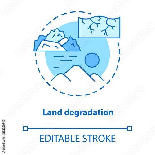 Fotografija Land degradation concept icon