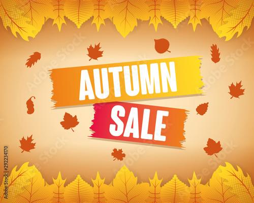 Obraz autumn sale seasonal label icon - fototapety do salonu