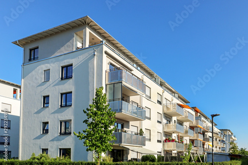 Fototapeta Housing estate with modern residential buildings in the city obraz