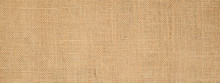 Cotton Woven Fabric Background With Flecks Of Varying Colors Of Beige And Brown. With Copy Space. Office Desk Concept / Hessian Sackcloth Burlap Woven Texture Background High Resolution Horizontal .