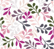 Vector floral seamless pattern. Hand drawn flowers illustration. Repeatable background.