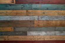 Multicolor Wood Pallet Wall