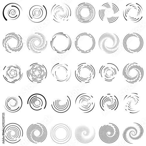 Fényképezés Twirl, spiral, swirl circle set of 30