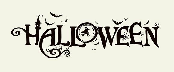 Halloween horizontal banner...