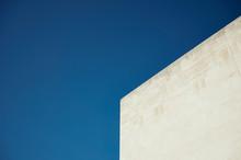 Part Of Building Against Blue ...