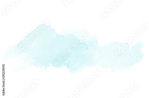Photo  Abstract watercolor background image with a liquid splatter of aquarelle paint, isolated on white
