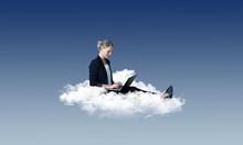 Arbeiten In Der Cloud – Frau...