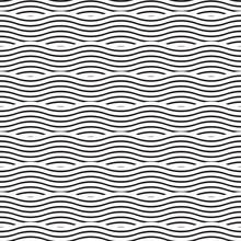 Seamless Ocean Wave Pattern Te...