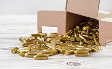 Yellow Brass Gun Ammo Spilled ...