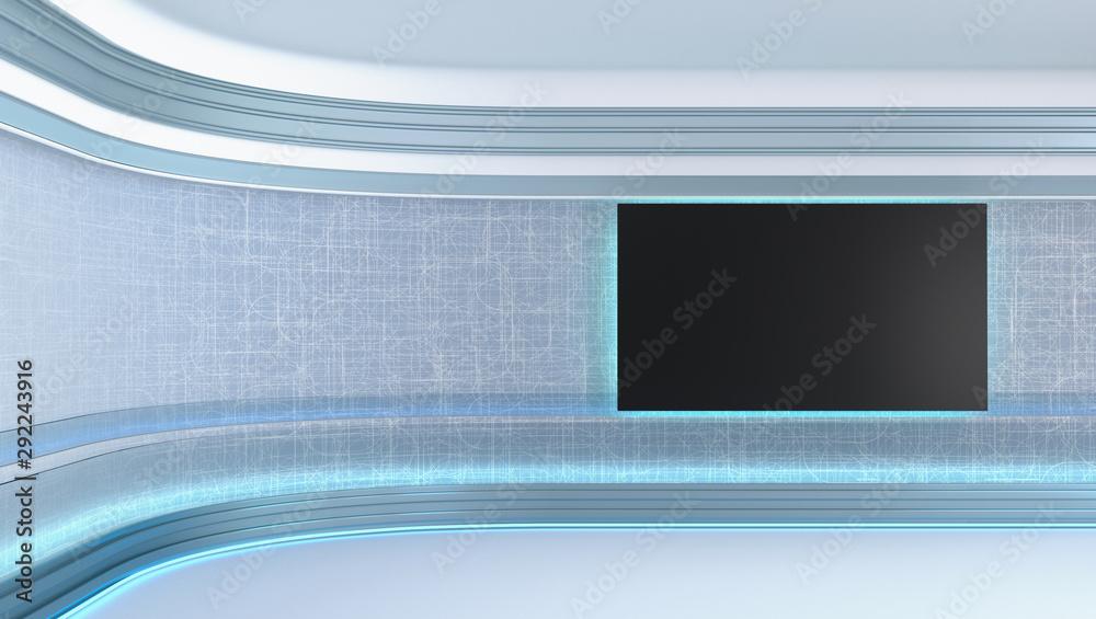 Fototapeta Virtual tv studio