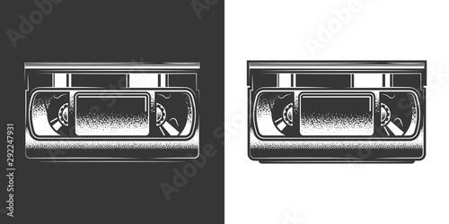 Fotografija Original monochrome vector illustration