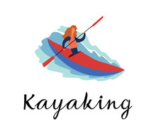 The Girl Is Swimming In A Kaya...