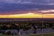 Vivid Sunrise Over The City