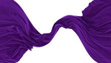 Abstract Background Of Purple Wavy Velvet. 3d Rendering Image.