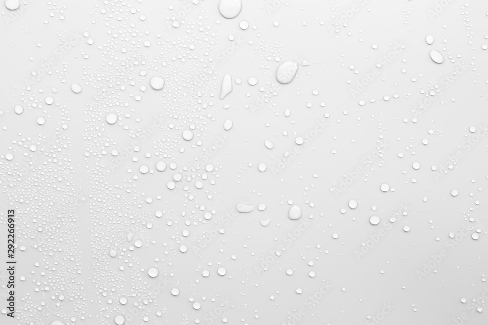 Fototapety, obrazy: Water droplets on a gray background