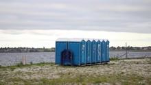 Festival Toilets, Wtih Sea In ...