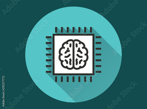 Obraz Artificial intelligence - vector icon for graphic and web design. - fototapety do salonu