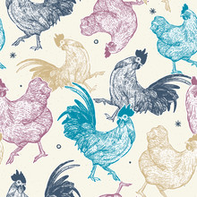 Chicken Collection Seamless Pa...