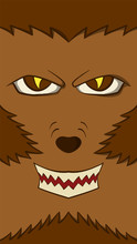 Werewolf Card Background Vecto...