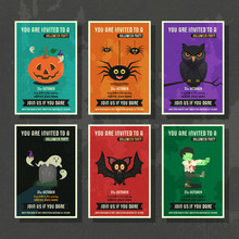 Happy Halloween Vector Greetin...