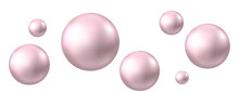 Air Pink Bubbles Isolated On W...