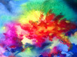 Watercolor abstract bright colorful textural background handmade . Painting of underwater world of coral reef. Modern sea scape