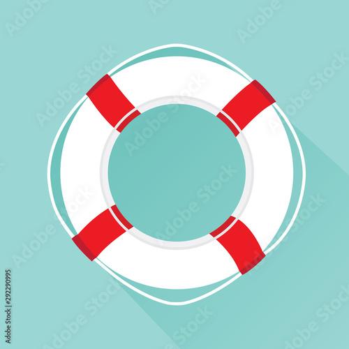 Life buoy icon. Canvas Print
