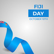 Happy Republic of Fiji Day Vector Design Template Illustration