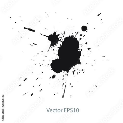 Photo  ink splat background