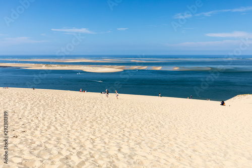 People on the Dune of Pilat, the tallest sand dune in Europe Canvas Print
