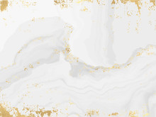 Marble And Gold Background Template.