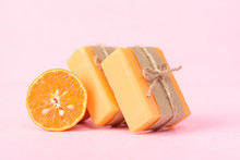 Orange Soap Wrapping With Pape...