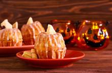Little Pumpkin Cakes For Halloween