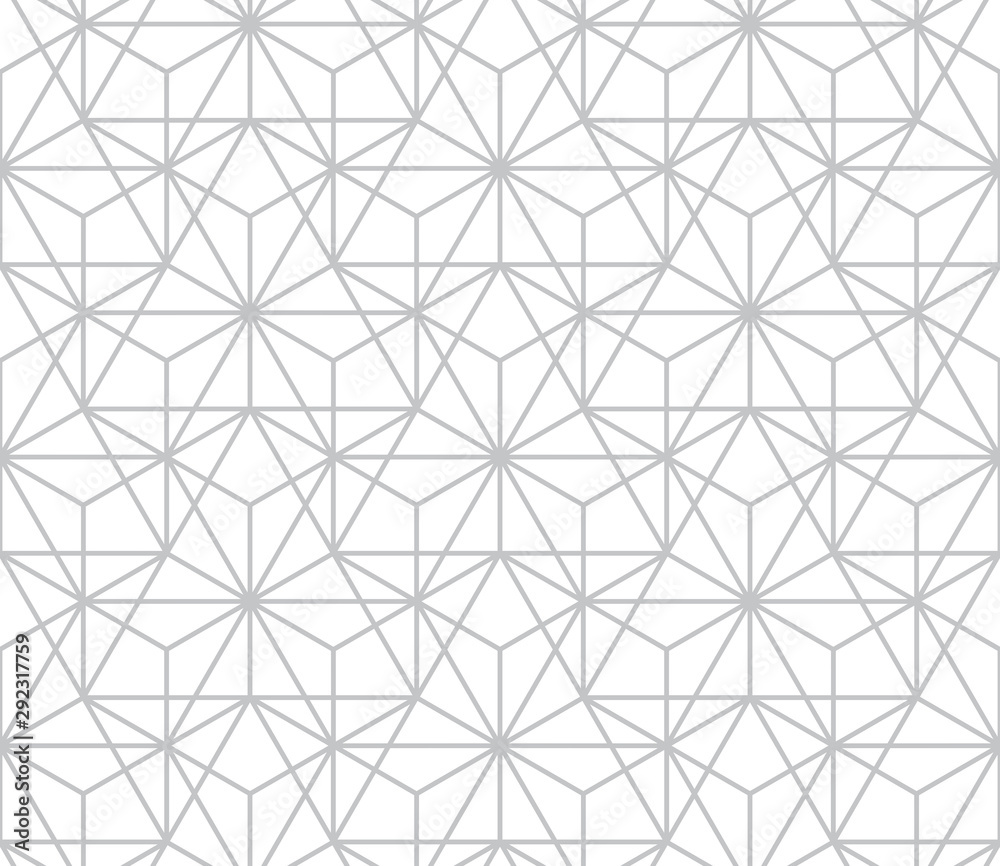 Fototapeta The geometric pattern with lines. Seamless vector background. White and grey texture. Graphic modern pattern. Simple lattice graphic design.